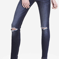 MID RISE DESTROYED KNEE JEAN LEGGING from EXPRESS