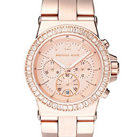 Michael Kors Women's Chronograph Dylan Rose Gold-Tone Stainless Steel Bracelet Watch 43mm MK5412