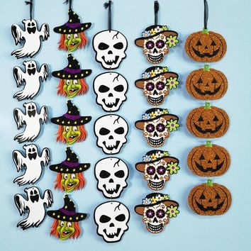 Halloween Event Paper DIY Decoration Pendant Pumpkin Ghost Witch Props Hanging Ornaments Decorative Home Party KTV Decoration