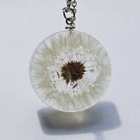 One True Dandelion Necklace 07 Resin by NaturalPrettyThings
