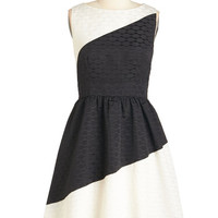 ModCloth Colorblocking Mid-length Sleeveless A-line