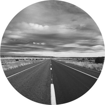 Open Roads Circle Wall Decal