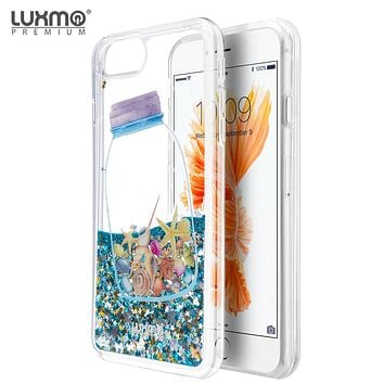 Luxmo Apple iPhone 7 / iPhone 6s / iPhone 6 Waterfall Fusion Liquid Sparkling Quicksand Case - Drifting Bottle