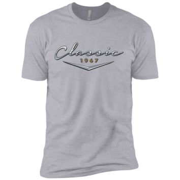 Men's Vintage Classic 1967 T Shirt / 50th Birthday Gifts for Him (have border) NL3600 Next Level Premium Short Sleeve T-Shirt