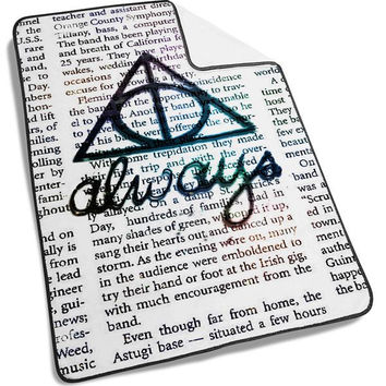 Harry Potter Always Symbols Blanket