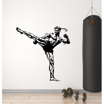 Vinyl Wall Decal Fight Club Fighting Gym Sports Martial Arts Stickers Mural (g1610)