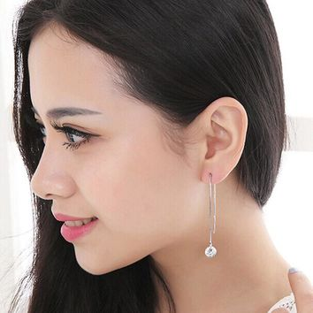 Women Long Style Earrings Ear Hook Stud Jewelry