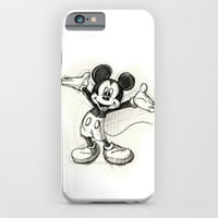 Mickey Mouse iPhone & iPod Case by Herself