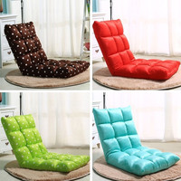 Creative Floor Seating Folding Adjustable Sleeper Chair Sofa Bed Living Room Furniture Lazy Couch Modern Single Sofa Chair