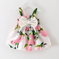 Lemon Print Baby Girl Dress