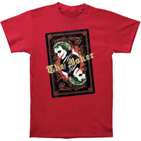 Batman Men's  The Joker's Wild T-shirt Red Rockabilia