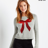 aeropostale womens bow raglan sweater