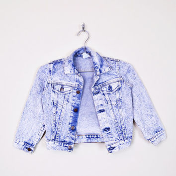 Blue Acid Wash Jacket 80s Acid Wash Jean Jacket 90s Acid Wash Denim Jacket 80s Jean Jacket 90s Jean Jacket 90s Grunge Kids Boys L Large 7
