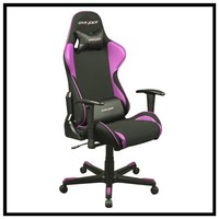 DXRACER fe11np comfortable office gaming chair black and pink color