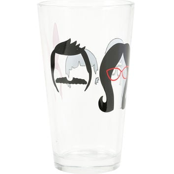 Bob's Burgers Belcher Family Pint Glass