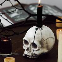 Spooky Skull Candle Holder - Halloween