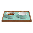 Allyson Johnson Blue Hearts Pet Bowl and Tray