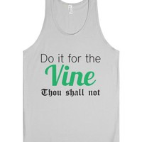 White Girl Do It For The Vine Tank-Unisex Silver Tank