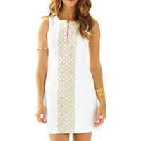 Mila Gold Lace Shift Dress - Lilly Pulitzer