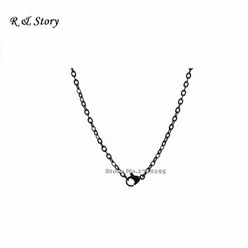 Oval Link Chain For All Brands Floating Locket, Black Chains LFH_037