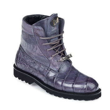 "Mauri - ""4637"" Alligator/Nappa/Ostrich Leg Hand-Painted Boot"