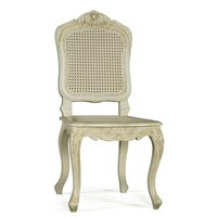 Provencale Antique White French Bedroom Chair | French Bedroom furniture | Dressing Table Stool