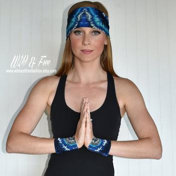 Yoga wrist band, Workout fitness wristband, Ladies fashion wrist band, Yoga apparel, Workout Apparel, Womens wrist band, Running wrist band