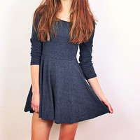Charcoal Desire Dress -back in stock