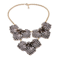 Cactus Flower Statement Necklace