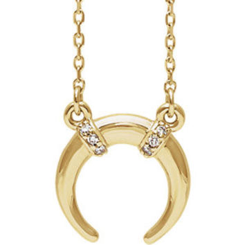 14K White .03 CTW Diamond Necklace