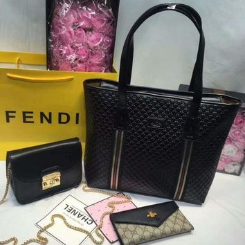 DCCK Year-End Promotion 3 Pcs Of Bags Combination (Gucci Bag ,Furla Mid Bag ,Gucci Wallet)