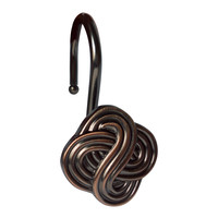 Elegant Home Fashions Gaelic Knot Shower Hooks (Set of 12) - Rust/Copper