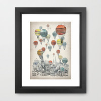 Voyages over Edinburgh Framed Art Print by David Fleck | Society6
