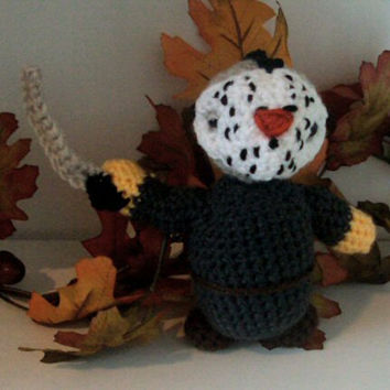Crochet/Amigurumi Jason Voorhees Friday the 13th Inspired Doll