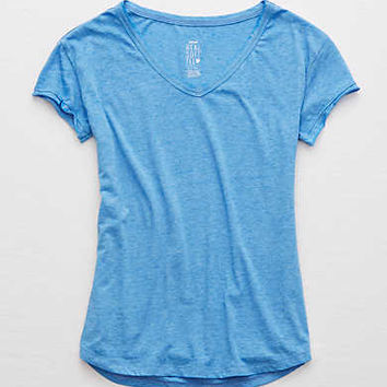 Aerie Real Soft® V-Neck Tee, Skyline Blue