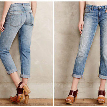 Anthropologie $148 Pilcro Hyphen Jeans Soft Denim Sz 32