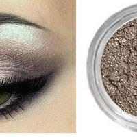 Driftwood - Light Brown Shimmering Mineral Eyeshadow, Eyeliner, All Natural, Vegan, Highly Pigmented, Infused with Primer, 5 gram Jar