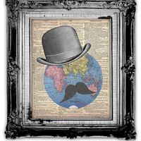 The WORLDLY TRAVELER DICTIONARY Art Print by FoxHunterStudios