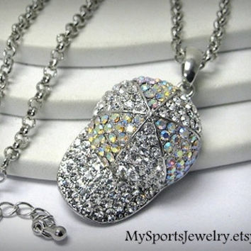 "Baseball ""Hat"" Rhinestone Necklace"