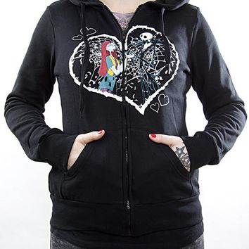 Nightmare Before Christmas Girls Hoodie - Jack And Sally