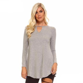 Gray Long Sleeve Tunic