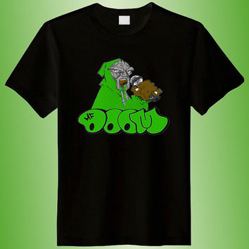 MF Doom Logo Sing Artist parody shirt parody, super hero t shirt, parody shirt colour black white gray size s-m-l-xl-2xl