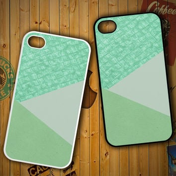 Mint Green F0517 LG G2 G3, Nexus 4 5, Xperia Z2, iPhone 4S 5S 5C 6 6 Plus, iPod 4 5 Case