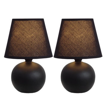 "All the Rages 8.78"" H Table Lamp with Empire Shade (Set of 2)"