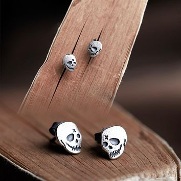 Smiling Death Sterling Silver Earrings