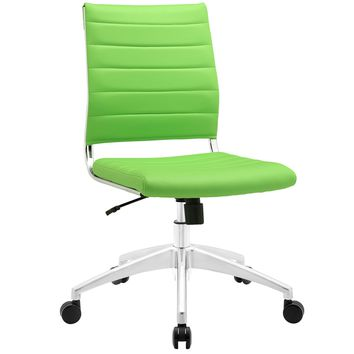 Jive Armless Mid Back Office Chair Bright Green EEI-1525-BGR