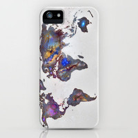 Stars world map iPhone Case by Guido Montañés | Society6
