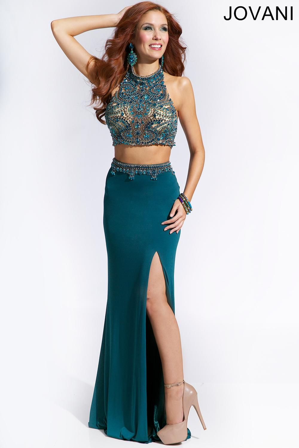 Teal Two Piece Dress 24293 Prom Dresses From Jovani