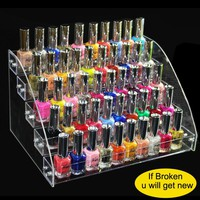 Multilayer and Multifunction Acrylic Nail Polish Rack Household Makeup Tool Holder Cosmetic Organizer Nail Polish Storage Shelf