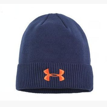 Under Armour Women Men Embroidery Warm Earmuffs Ski Cap Sport Hat-1